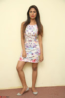 Nishi Ganda stunning cute in Flower Print short dress at Tick Tack Movie Press Meet March 2017 036.JPG