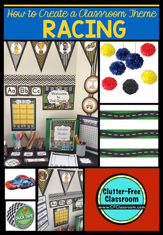 image about Free Printable Classroom Decorations named Racing Themed Clroom - Suggestions Printable Clroom