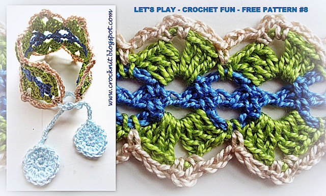 free crochet patterns spring boho bracelet