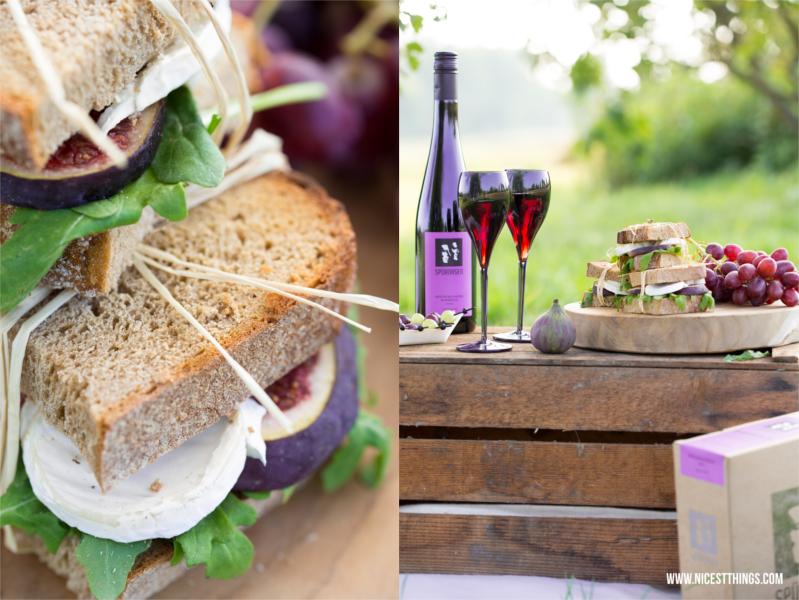 Feigen Ziegenkäse Sandwiches zum Herbstpicknick