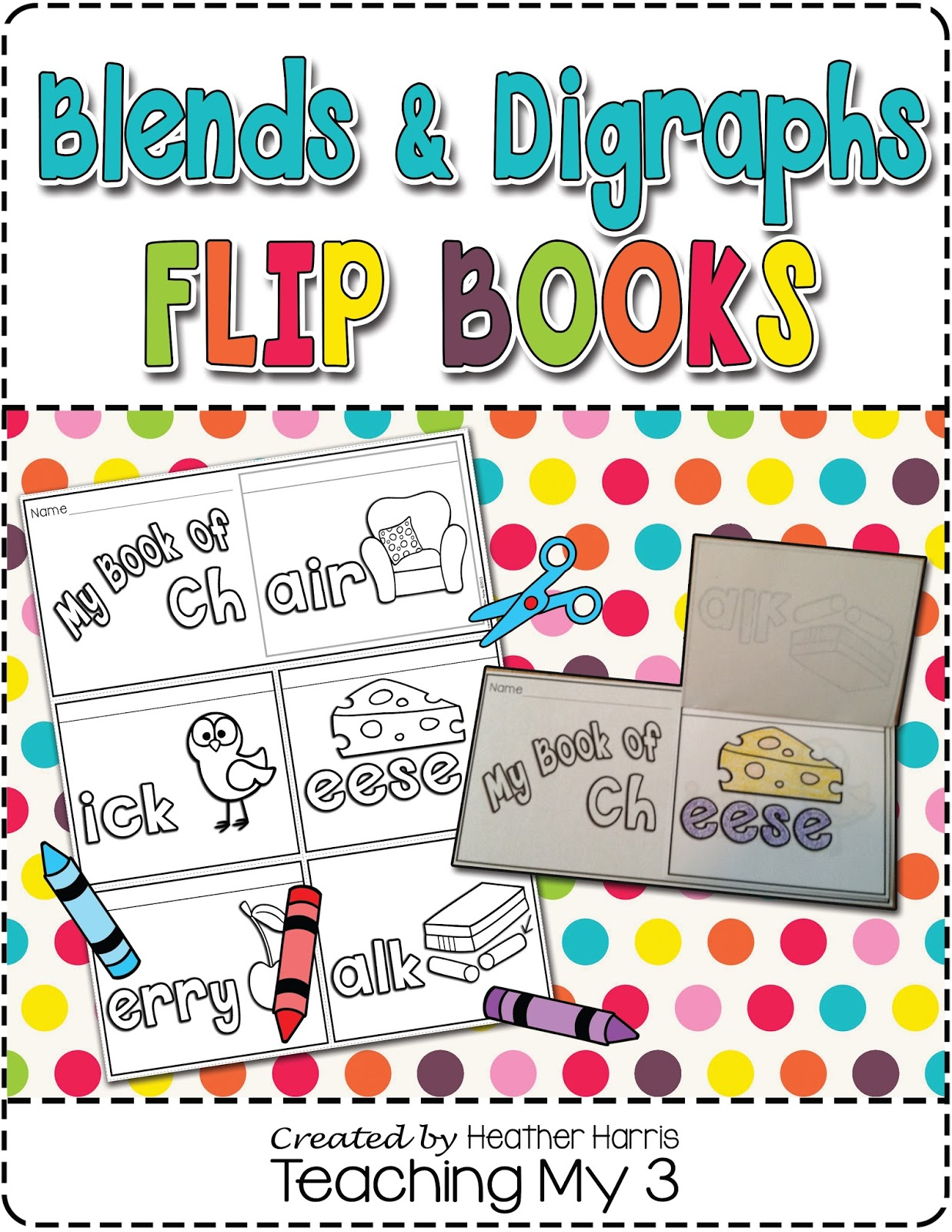 Heather S Teaching Blog New Blends Amp Digraphs Flip Books