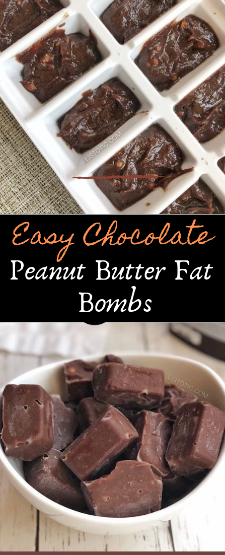 Easy Chocolate Peanut Butter Fat Bombs #desserts #cakerecipe #chocolate