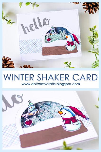 Winter Shaker Card feat Gerda Steiner Designs Pinterest