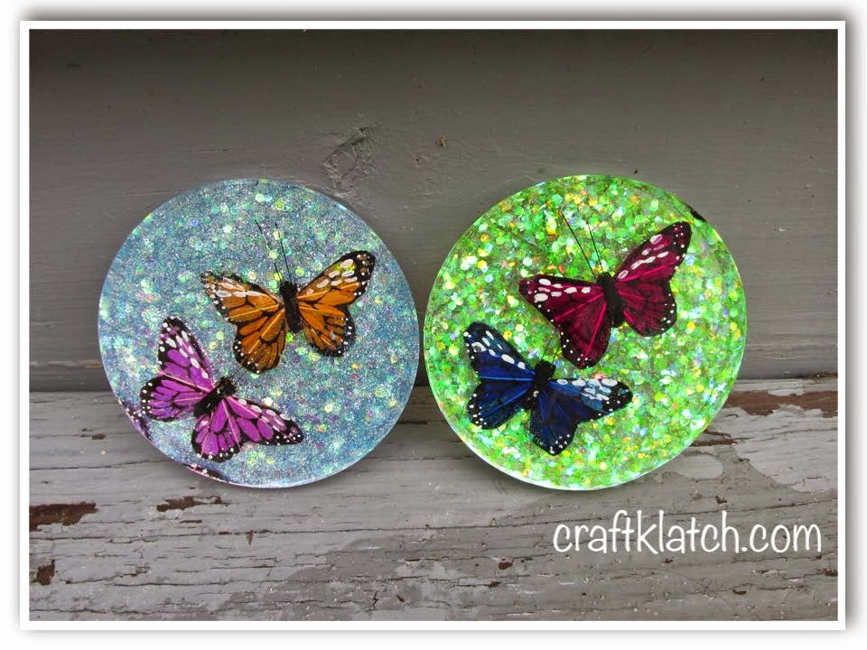 Craft Klatch Butterfly Coasters Diy Another Coaster Friday