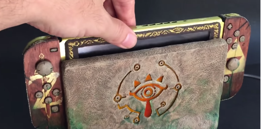 Espectacular Nintendo Switch decorada con temática de The Legend of Zelda