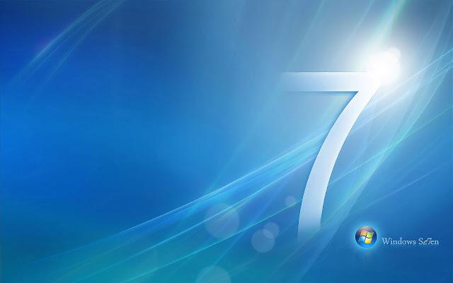 Blauwe abstracte Windows 7 achtergrond