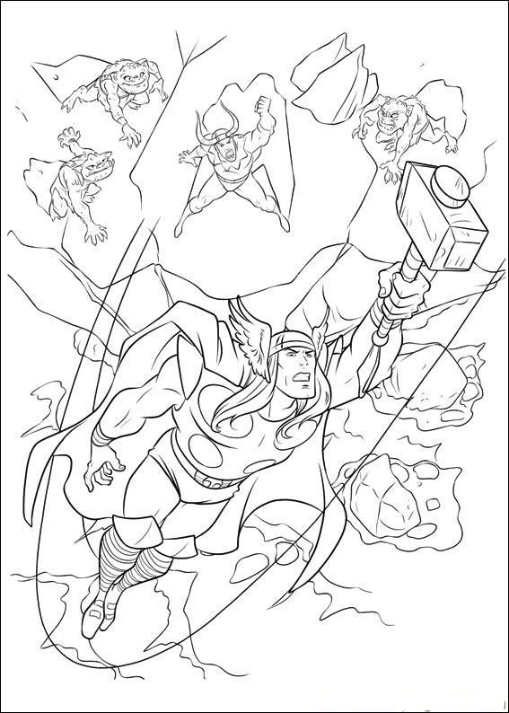 Cartoon Helden Kleurplaat Thor Coloring Pages Coloring Pages