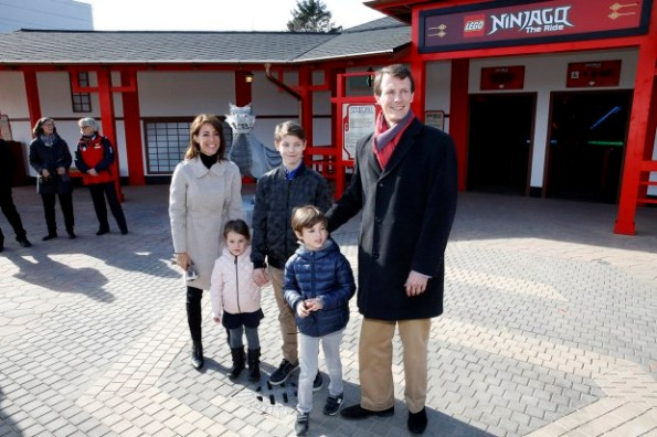 Princess Marie and Prince Joachim with Prince Felix, Prince Henrik and Princess Athena