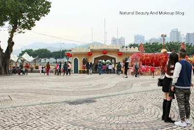Barra square featuring AMA Temple and Maritime Museum of Macau
