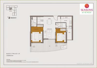 Mặt bằng căn hộ A101
