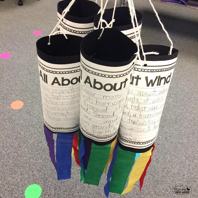 Create a weather writing wind sock!