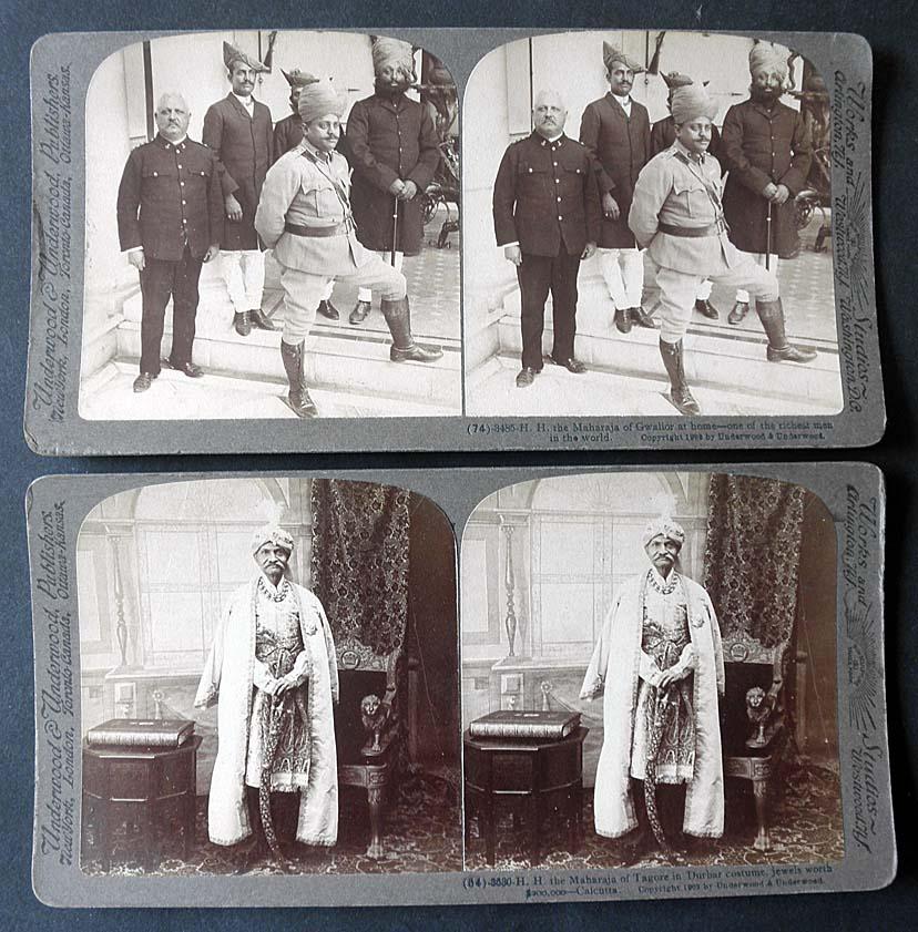 Maharaja of Tagore and Maharaja of Gwalior, India 1903