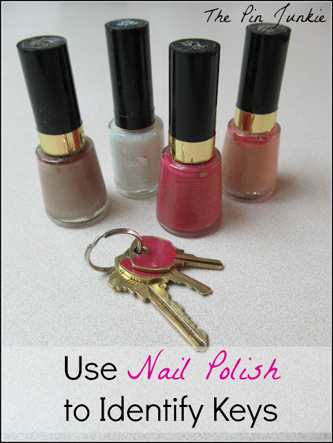 Color Code Keys With Nail Polish