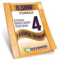 Güvender 8.Sınıf TEOG 2 Türkçe 4 Fasikül Deneme