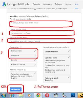 Cara Riset keywords Menggunakan Google  Keyword planner 2015