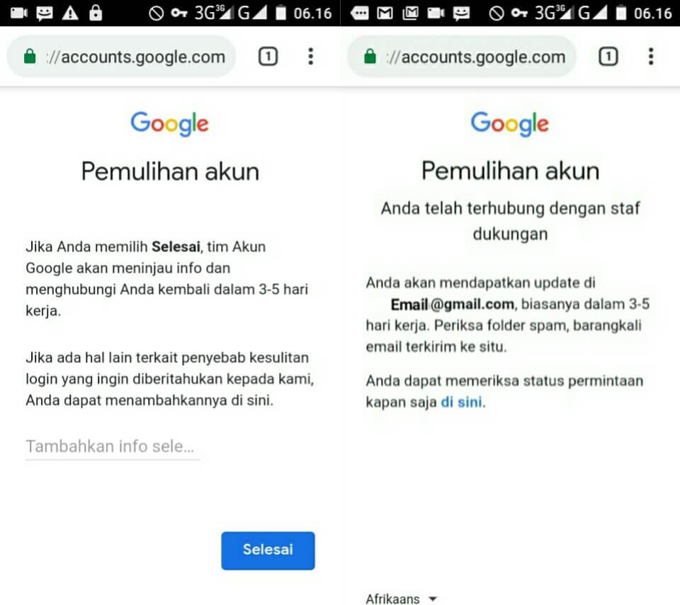 Memulihkan akun google yang lupa password