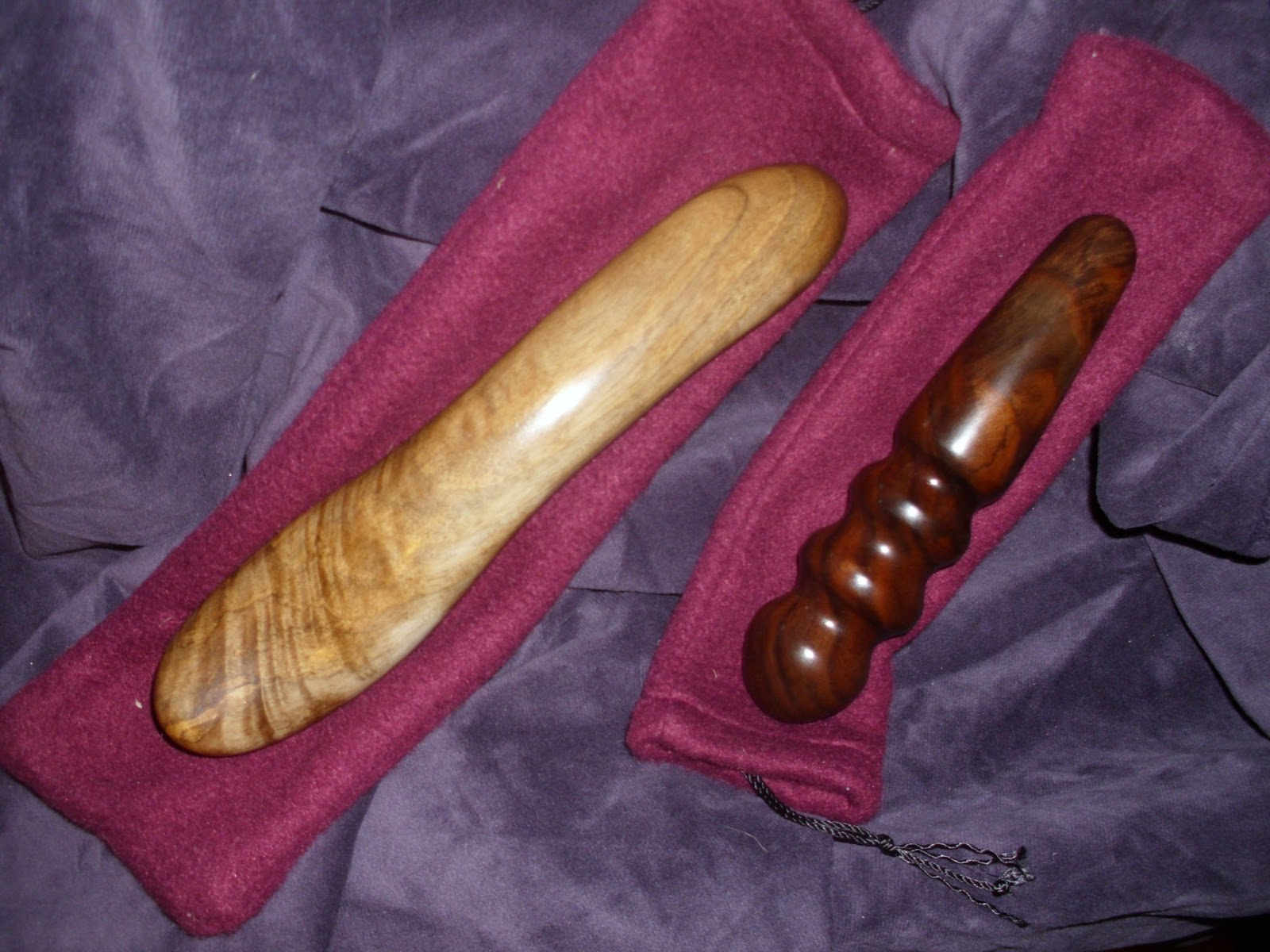 Wooden spoon dildo