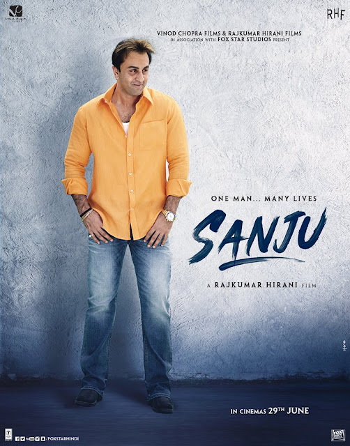 Ranbeer Kapoor in Munna Bhai Look Sanju movie poster