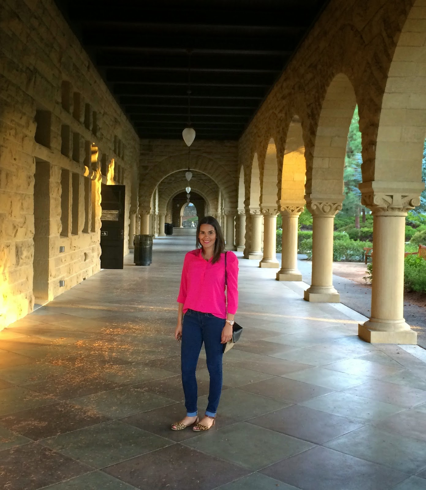 Marifer at a corridor of the Main Quad