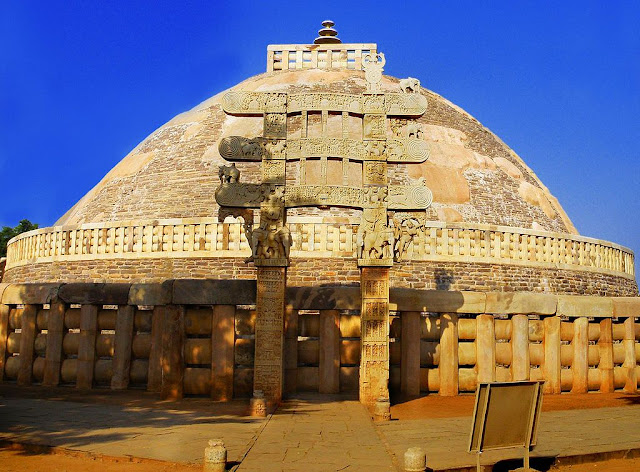 The Great Stupa of Sanchi - UNESCO World  Heritage site in India