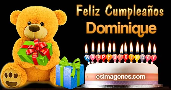 Feliz cumpleaños Dominique