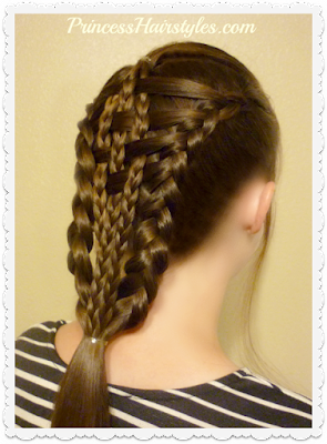 Checkerboard duch braids hairstyle tutorial. Easier than it looks!
