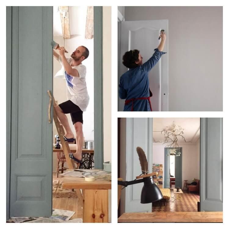 puertas de interior pintadas con Auténtico Chalk paint