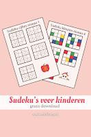 sudoku's voor kinderen -gratis download