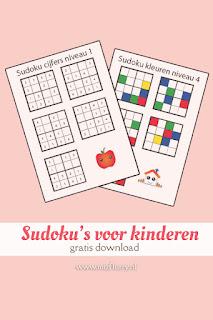Sudoku's voor kinderen - gratis download