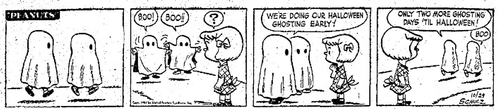 Great Pumpkin, Where Are You?: 1951: First Peanuts Halloween