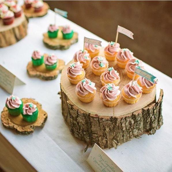 101 fiestas linda decoraci n rustica y natural con - Decoracion troncos madera ...