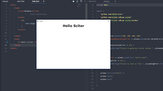 Hello Sciter
