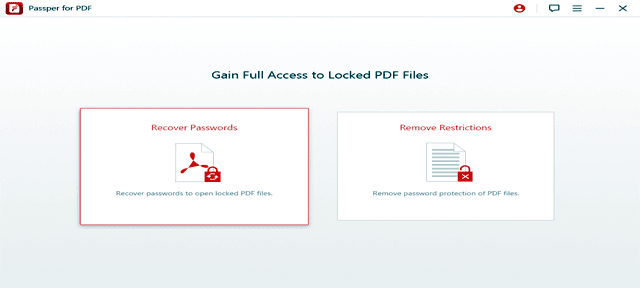 Passper for PDF - Unlock PDF Password Easily and Quickly