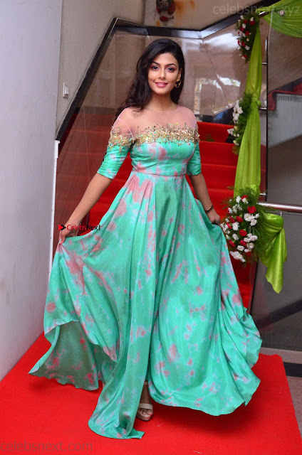 Anisha Ambrose sizzles in cute Green Anarkali Dress at Fashion TV F Club Saloon Launch ~  Exclusive 006.JPG