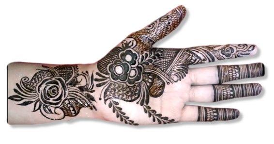 Full Hand Mehndi Design For Bride