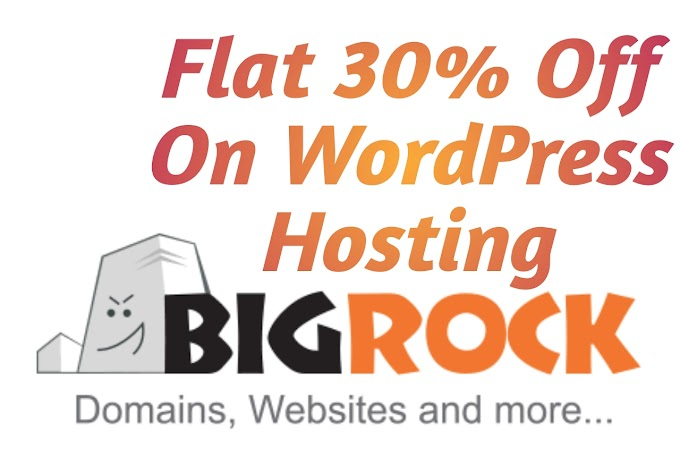Big Rock Coupon Code Flat 30% Off On WordPress Hosting