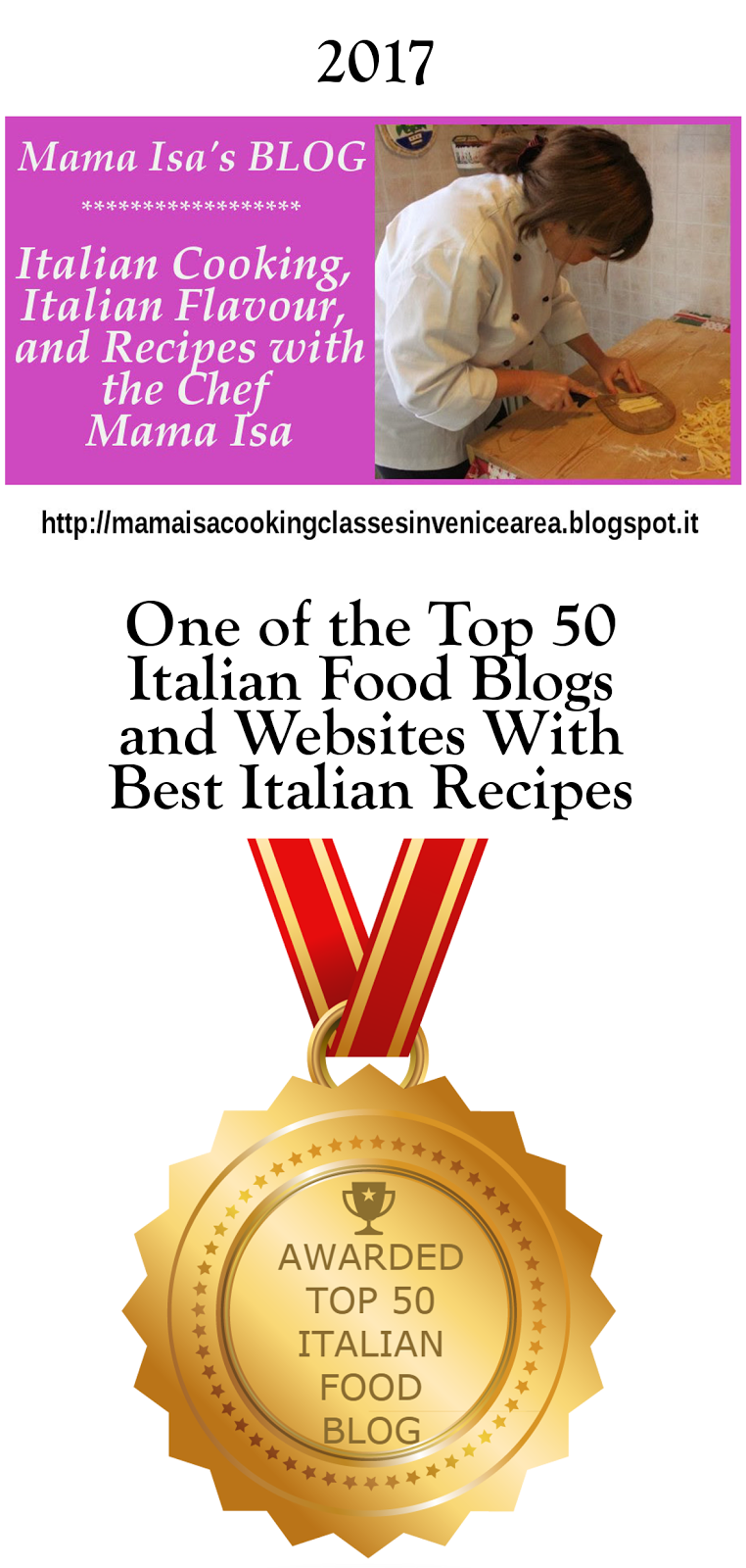 2017 Mama Isa's Blog - One of the top 50 Italian Food Blog