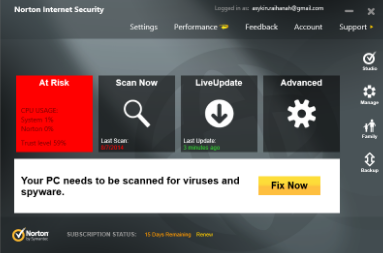 Norton Internet Security Scan