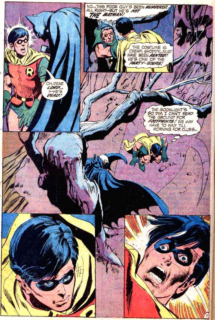 Batman v1 #237 dc comic book page art by Neal Adams