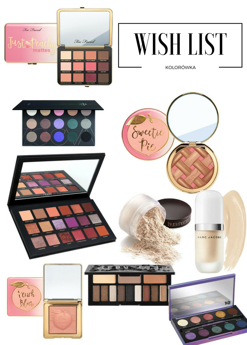 Kosmetyczne zachcianki - Wish List kolorówka