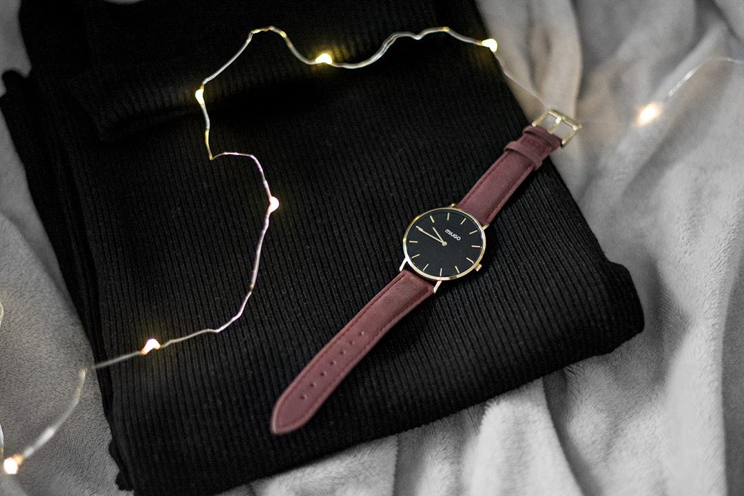zegarek miugo bordowy