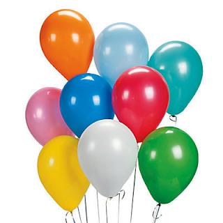 воздушные шарики поменьше