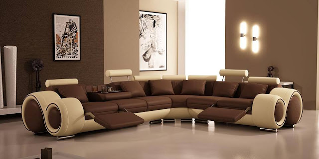 small living room design ideas With Leather Sofas