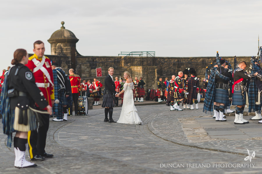 Edinburgh Castle Bridal Photograph
