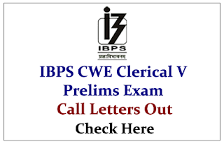 IBPS Clerk V Prelims Exam 2015- Call Letters Out