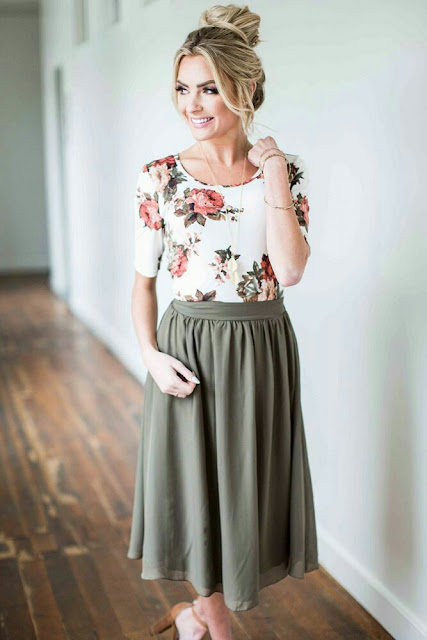 Floral Too with long skirt