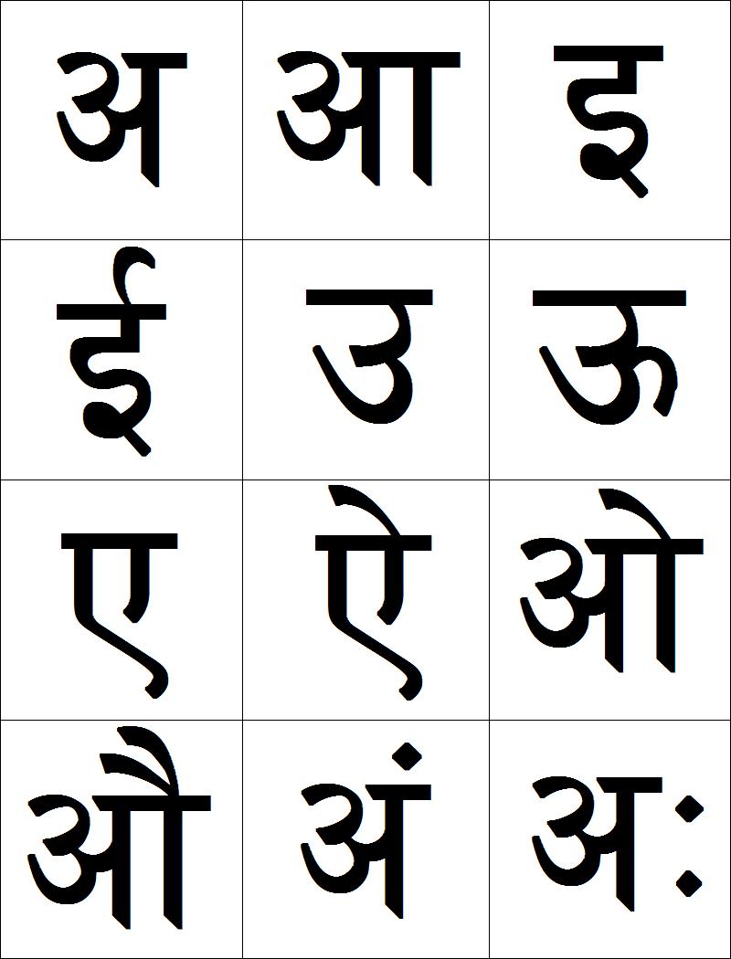 Marathi Swar (vowels) flash cards | Kids Learn Marathi