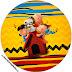 Charlie Brown y Snoopy: Wrappers y Toppers para Cupcakes para Imprimir Gratis.