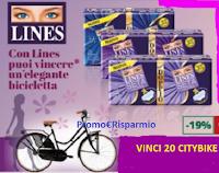 Logo ''Con Lines puoi vincere una elegante bicicletta'': 20 Citybike Modello Vintage