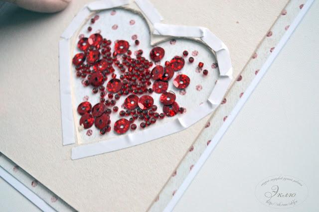 "Студия ""Эклю"", МК, открытка к Дню Святого Валентина, @koshchavtseva_irina @tarasova_dariya @studio_eklyu @chipboardmagazin"